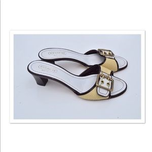 Coach Katie slide sandals